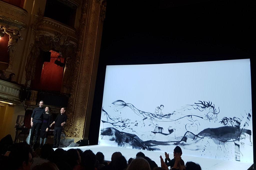 """Les 3 artistes saluent lors de """"Mon Premier Festival d'Opéra"""""""